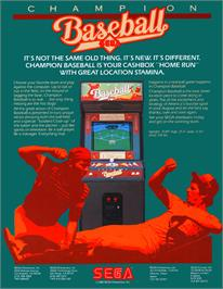 Advert for Champion Base Ball on the Arcade.