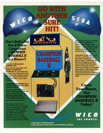 Advert for Champion Baseball II on the Arcade.