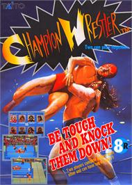 Advert for Champion Wrestler on the Arcade.