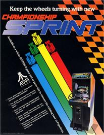 Advert for Championship Sprint on the Arcade.