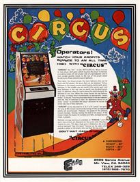 Advert for Circus / Acrobat TV on the Arcade.