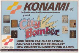 Advert for City Bomber on the Arcade.