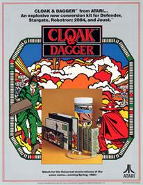 Advert for Cloak & Dagger on the Arcade.