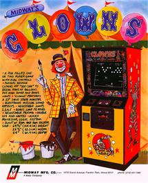 Advert for Clowns on the Bally Astrocade.