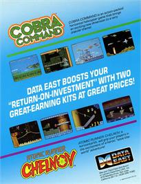Advert for Cobra-Command on the Arcade.