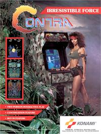 Advert for Contra on the Arcade.