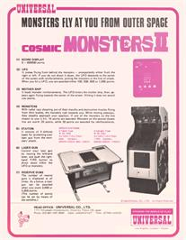 Advert for Cosmic Monsters 2 on the Arcade.