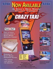Advert for Crazy Taxi on the Sega Dreamcast.