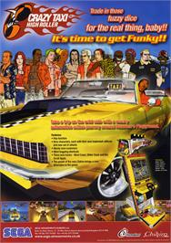 Advert for Crazy Taxi High Roller on the Arcade.
