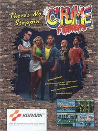 Advert for Crime Fighters on the Arcade.