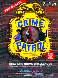 Advert for Crime Patrol v1.4 on the Arcade.