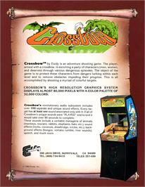 Advert for Crossbow on the Atari 8-bit.
