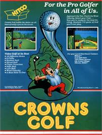 Advert for Crowns Golf on the Arcade.