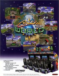 Advert for Cruis'n World on the Arcade.