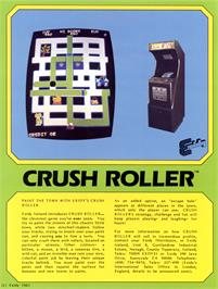 Advert for Crush Roller on the Arcade.