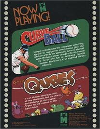 Advert for Curve Ball on the Arcade.