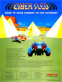 Advert for Cyber Sled on the Arcade.