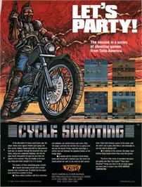 Advert for Cycle Shooting on the Arcade.