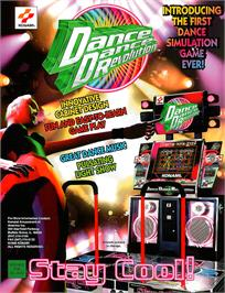 Advert for Dance Dance Revolution on the Sony Playstation.