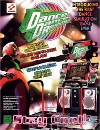 Advert for Dance Dance Revolution on the Arcade.