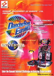 Advert for Dancing Stage Euro Mix on the Arcade.