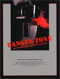 Advert for Danger Zone on the Tangerine Oric.