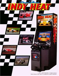 Advert for Danny Sullivan's Indy Heat on the Arcade.