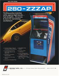 Advert for Datsun 280 Zzzap on the Arcade.