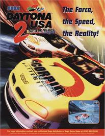 Advert for Daytona USA 2 on the Sega Model 3.