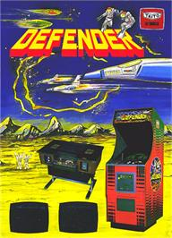 Advert for Defender on the Arcade.