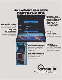 Advert for Depthcharge on the Arcade.