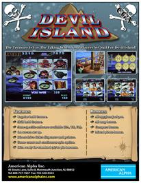 Advert for Devil Island on the Arcade.