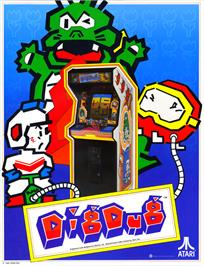 Advert for Dig Dug on the Atari 8-bit.