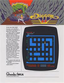 Advert for Digger on the Arcade.