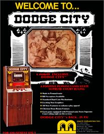 Advert for Dodge City on the Arcade.