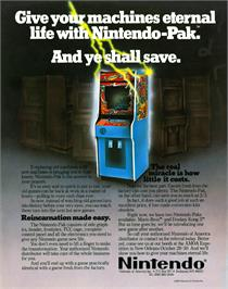 Advert for Donkey Kong 3 on the Nintendo Arcade Systems.