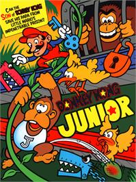 Advert for Donkey Kong Junior on the Nintendo Arcade Systems.
