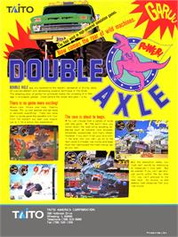 Advert for Double Axle on the Arcade.