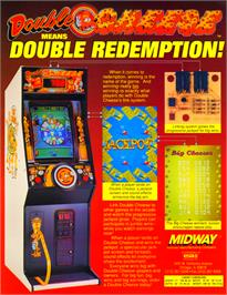 Advert for Double Cheese on the Arcade.