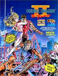Advert for Double Dragon II - The Revenge on the Arcade.