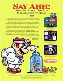 Advert for Dr. Mario on the Nintendo SNES.