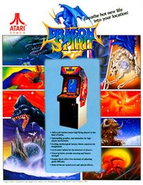 Advert for Dragon Spirit on the Arcade.