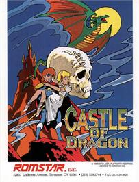 Advert for Dragon Unit / Castle of Dragon on the Arcade.