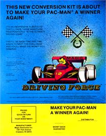 Advert for Driving Force on the Arcade.