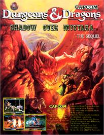 Advert for Dungeons & Dragons: Shadow over Mystara on the Arcade.