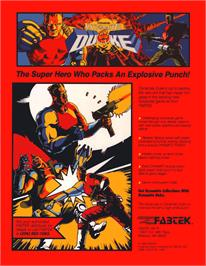 Advert for Dynamite Duke on the Sega Nomad.