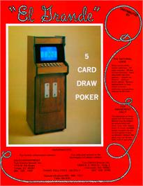 Advert for El Grande - 5 Card Draw on the Arcade.