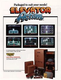 Advert for Elevator Action on the Nintendo NES.