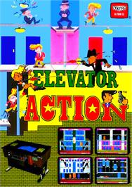 Advert for Elevator Action on the Arcade.