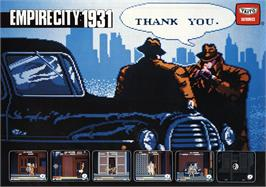 Advert for Empire City: 1931 on the Nintendo NES.